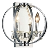 "Picture of 12"" Led Cage Modern Crystal Round Wall Sconce Polished Chrome 2 Lights"