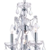 "Picture of 12"" Maria Theresa Traditional Crystal Round Chandelier Polished Chrome 4 Lights"