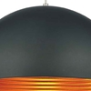 "Picture of 12"" Modest Industrial Pendant Black 1 Light"