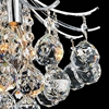 """Picture of 12"""" Monarch Crystal Flush Mount Small Round Chandelier Chrome / Gold 3 Lights"""