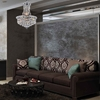 """Picture of 12"""" Primo Transitional Crystal Small Round Chandelier Chrome / Gold 6 Lights"""