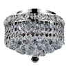 "Picture of 12"" Primo Transitional Small Round Crystal Flush Mount Ceiling Chandelier Polished Chrome 3 Lights"