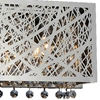 "Picture of 12"" Web Modern Laser Cut Crystal Horizontal Wall Sconce Vanity Light Stainless Steel 2 Lights"