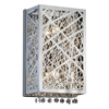 "Picture of 12"" Web Modern Laser Cut Crystal Vertical Wall Sconce Vanity Light Stainless Steel 2 Lights"