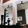 """Picture of 13"""" 1 Light  Flush Mount with Black finish"""