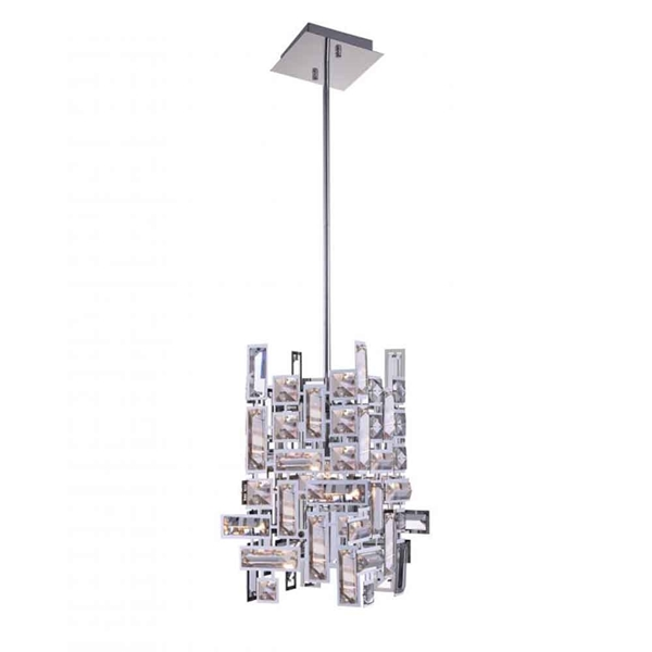 "Picture of 13"" 1 Light  Mini Chandelier with Chrome finish"