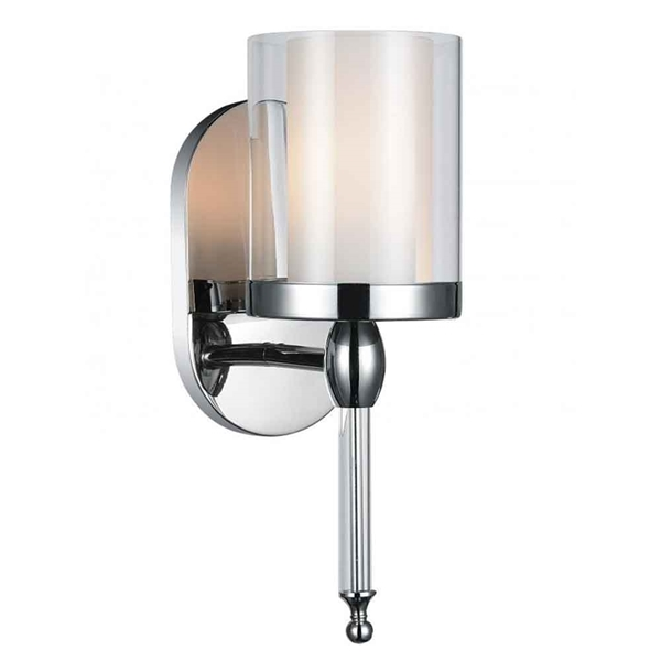 "Picture of 13"" 1 Light Bathroom Sconce with Chrome finish"