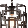 "Picture of 13"" 1 Light Down Chandelier with Brown finish"