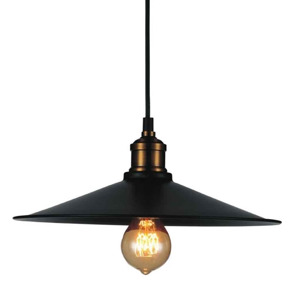 "Picture of 13"" 1 Light Down Mini Pendant with Black finish"