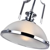 """Picture of 13"""" 1 Light Down Pendant with Chrome finish"""