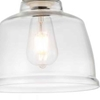 "Picture of 13"" 1 Light Down Pendant with Clear finish"
