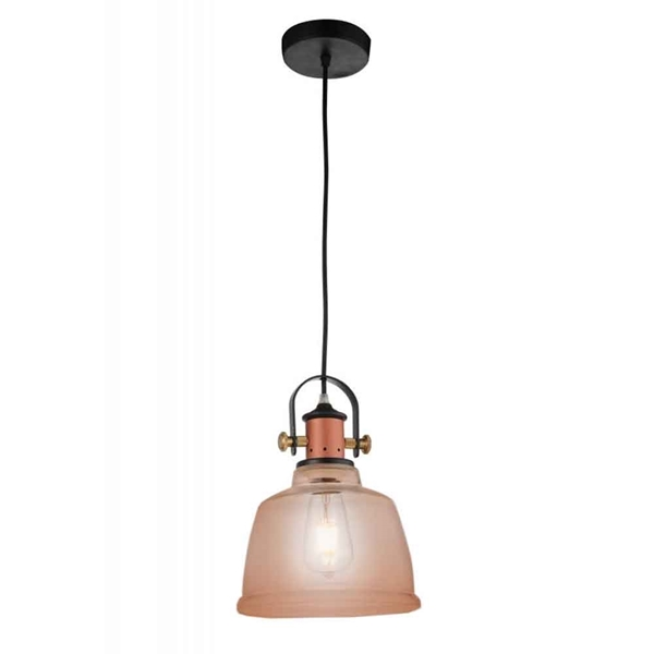 "Picture of 13"" 1 Light Down Pendant with Cognac finish"