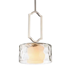 """13"""" 1 Light Drum Shade Chandelier with Chrome finish"""