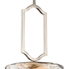 "Picture of 13"" 1 Light Drum Shade Chandelier with Chrome finish"