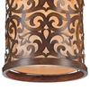 "Picture of 13"" 1 Light Drum Shade Mini Pendant with Brushed Chocolate finish"