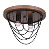 """Picture of 13"""" 2 Light  Flush Mount with Black finish"""