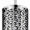 "Picture of 13"" 2 Light Drum Shade Mini Pendant with Chrome finish"