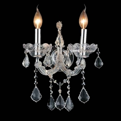 """13"""" 2 Light Wall Sconce with Chrome finish"""