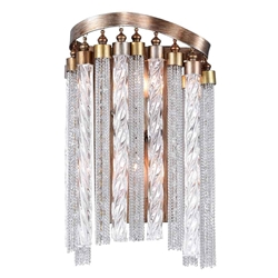 """13"""" 2 Light Wall Sconce with Gold finish"""