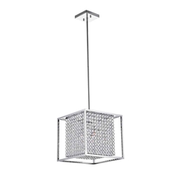 """13"""" 3 Light  Chandelier with Chrome finish"""