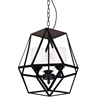 "Picture of 13"" 3 Light Candle Mini Pendant with Black finish"