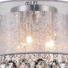 """Picture of 13"""" 3 Light Drum Shade Flush Mount with Chrome finish"""