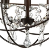 """Picture of 13"""" 3 Light Up Mini Chandelier with Brown finish"""