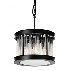 "13"" 4 Light  Chandelier with Black finish"
