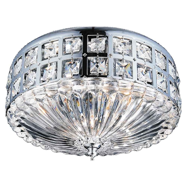 "Picture of 13"" 4 Light Bowl Flush Mount with Chrome finish"