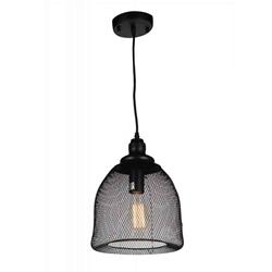 "13"" Drea Industrial Small Pendant Black 1 Light"