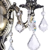 "Picture of 13"" Imperatore Traditional Crystal Candle Wall Sconce Antique Brass 2 Lights"