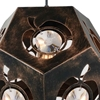 "Picture of 14"" 1 Light  Chandelier with Blackened Bronze finish"