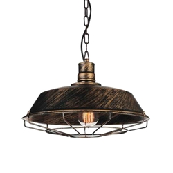 "14"" 1 Light Down Mini Pendant with Antique Copper finish"