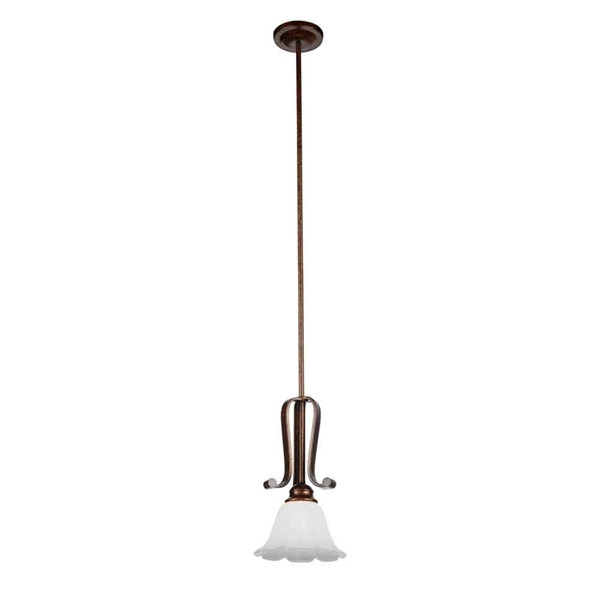 "Picture of 14"" 1 Light Down Mini Pendant with Antique Gold finish"