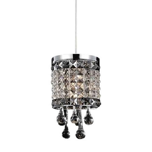 "Picture of 14"" 1 Light Down Mini Pendant with Chrome finish"
