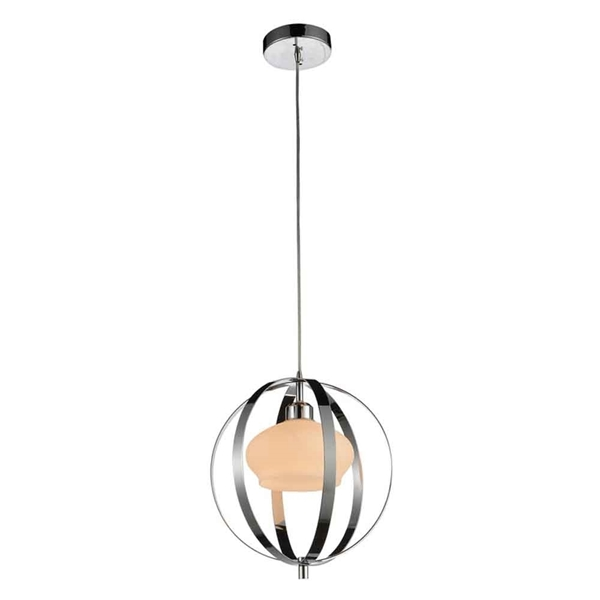 """Picture of 14"""" 1 Light Down Mini Pendant with Satin Nickel finish"""