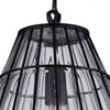 "Picture of 14"" 1 Light Down Pendant with Black & Wood finish"