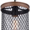 "Picture of 14"" 1 Light Drum Shade Mini Chandelier with Black finish"