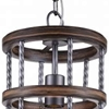 """Picture of 14"""" 1 Light Drum Shade Mini Chandelier with Gun Metal finish"""