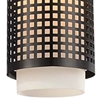 "Picture of 14"" 1 Light Drum Shade Mini Pendant with Black finish"