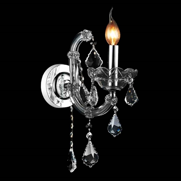 "Picture of 14"" 1 Light Wall Sconce with Chrome finish"
