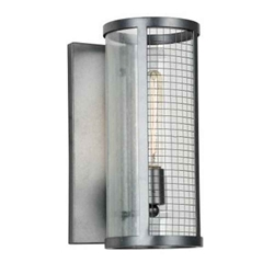 "14"" 1 Light Wall Sconce with Gray finish"