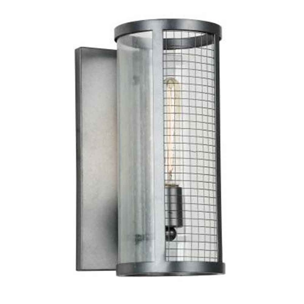"Picture of 14"" 1 Light Wall Sconce with Gray finish"