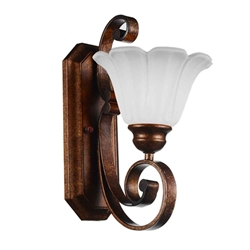 "14"" 1 Light Wall Sconce with Antique Gold finish"