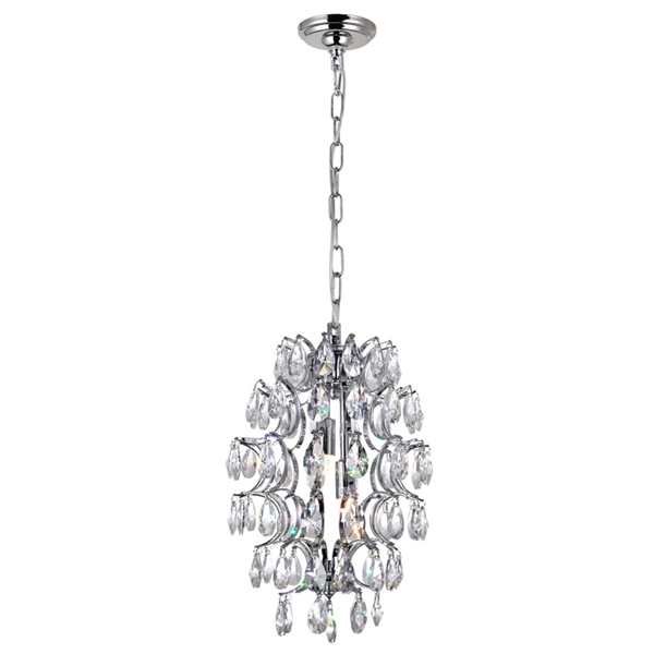 "Picture of 14"" 2 Light Down Mini Pendant with Chrome finish"