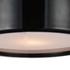 "Picture of 14"" 2 Light Drum Shade Flush Mount with Black finish"