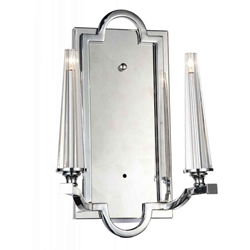 """14"""" 2 Light Up Chandelier with Chrome finish"""