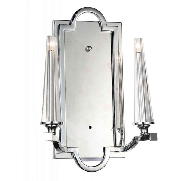 """Picture of 14"""" 2 Light Up Chandelier with Chrome finish"""