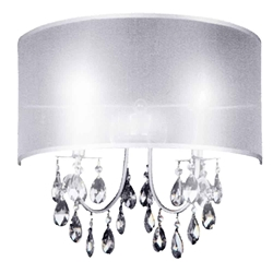 "14"" 2 Light Wall Sconce with Chrome finish"
