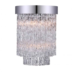 """14"""" 2 Light Wall Sconce with Chrome finish"""